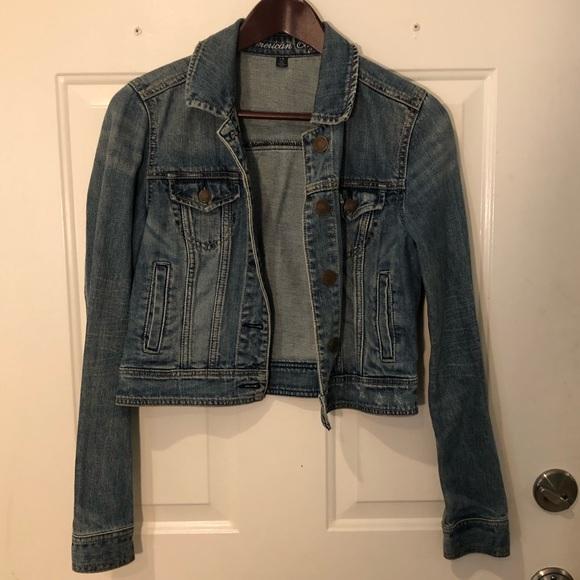 Classic Denim Jean Jacket Cropped American Eagle
